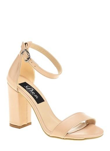 Derigo Ten Kadın Topuklu Sandalet 19631 Ten